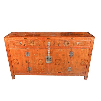 Vintage Asian Themed Credenza