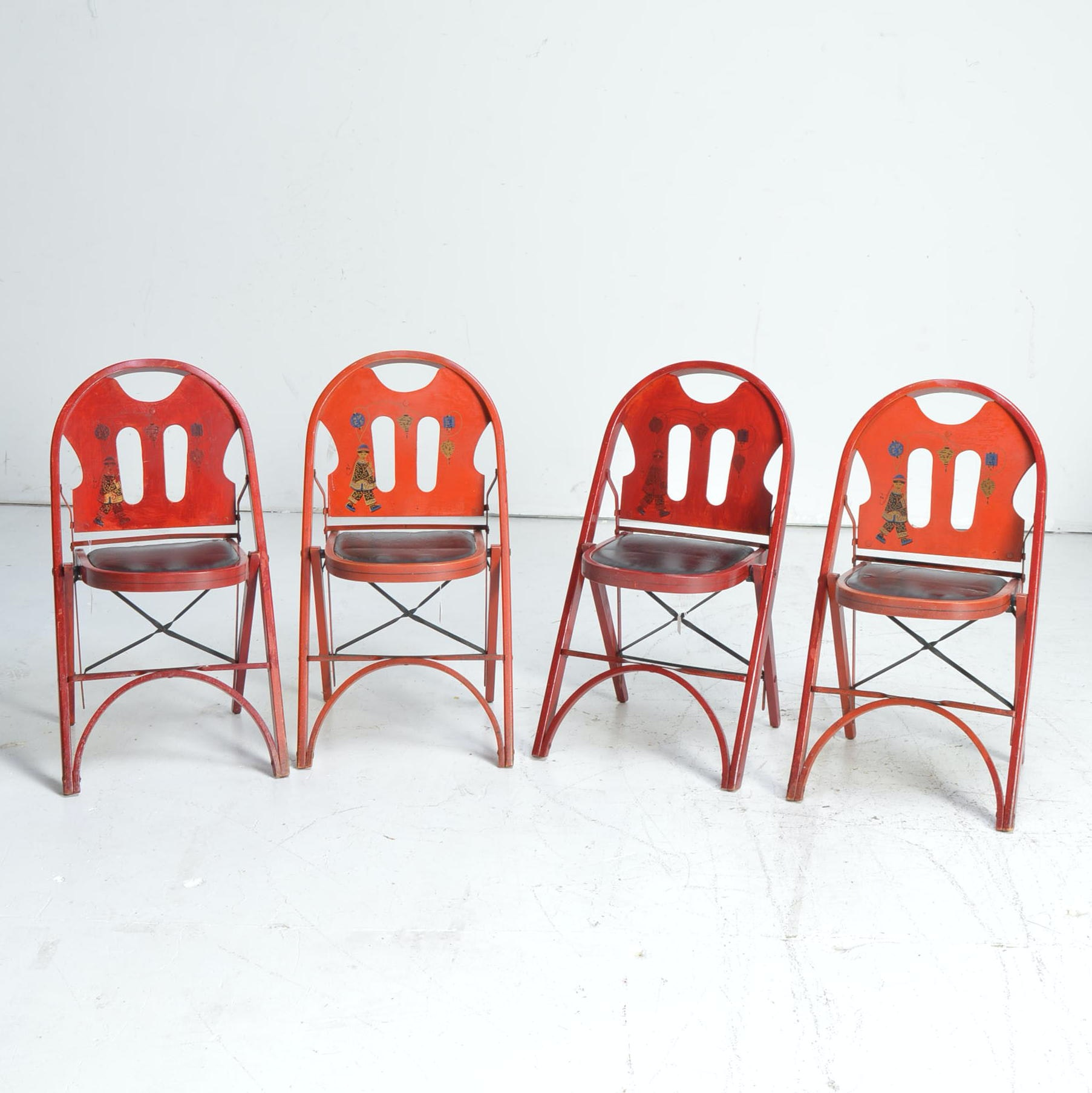 Vintage Folding Chairs by The Louis Rastetter & Sons