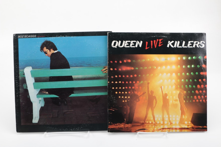 ac dc queen clapton and other classic rock pop lps ebth. Black Bedroom Furniture Sets. Home Design Ideas