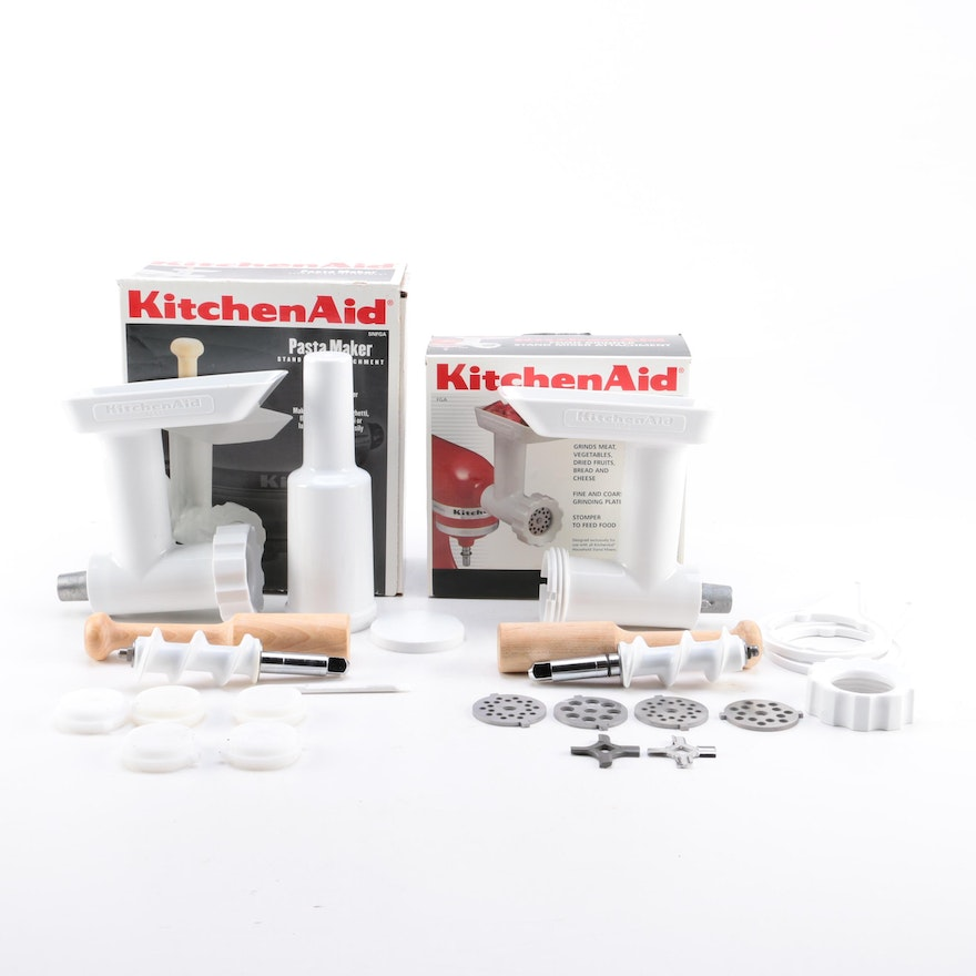 Kitchenaid Food Grinder And Pasta Maker Attachments For Stand Mixer