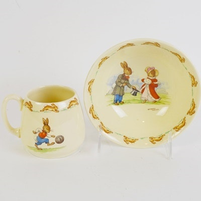 Royal Doulton Bunnykins Ceramic Mug and Bowl