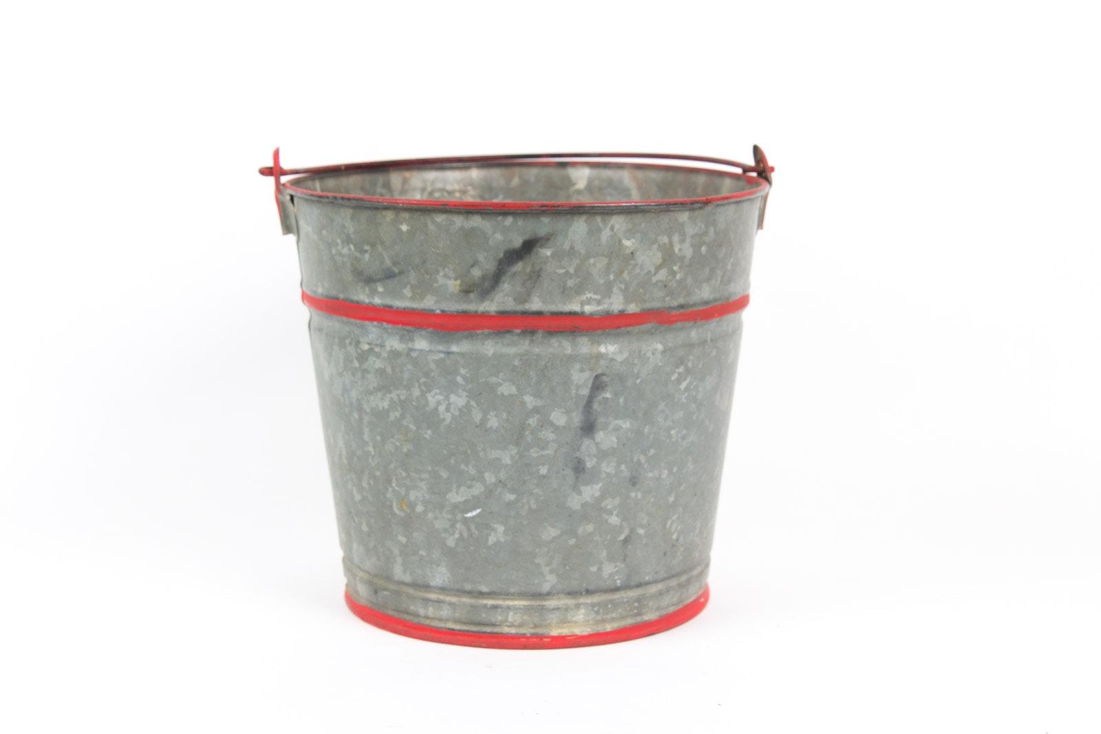 Vintage Galvanized Sap Bucket