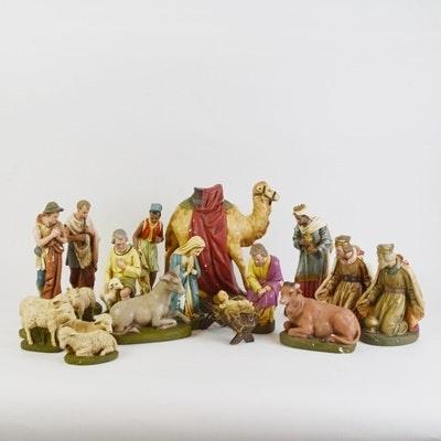 Vintage German Nativity Set