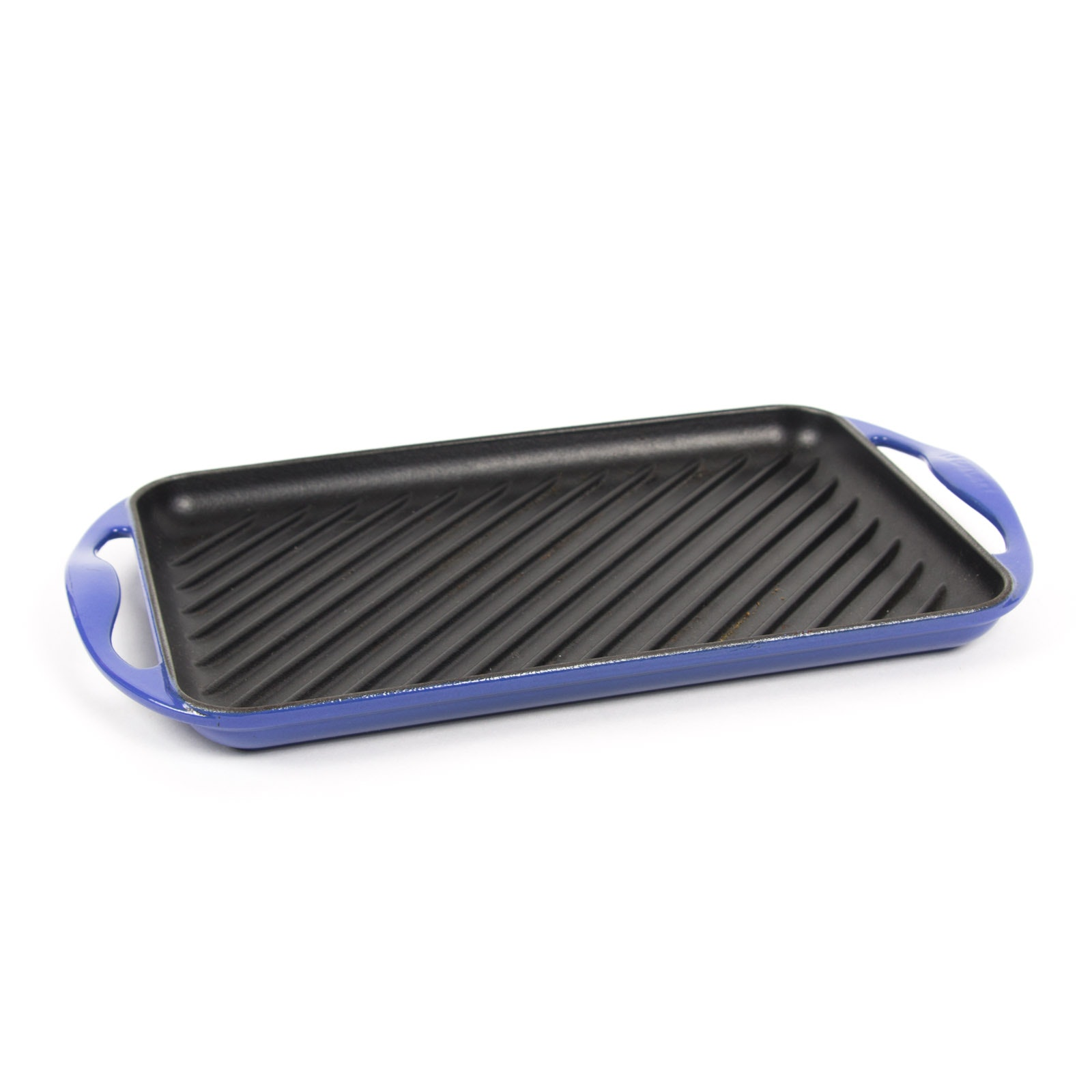 Le Creuset Blue Enamel Over Cast Iron Grill Pan
