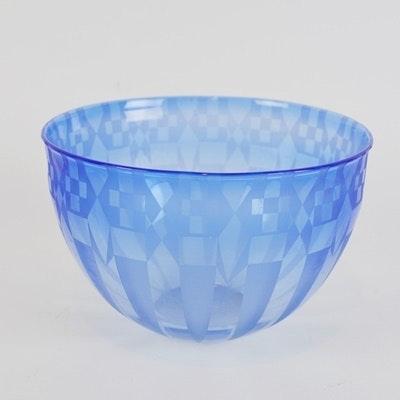 Gary Ginetti Signed Art Glass Bowl