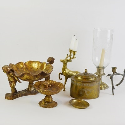 Brass Tone and Bronze Tone Decor Collection