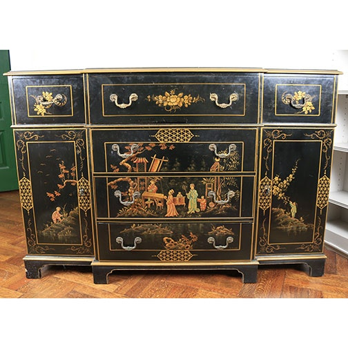 Vintage Chinoiserie Sideboard by Union-National, Inc.