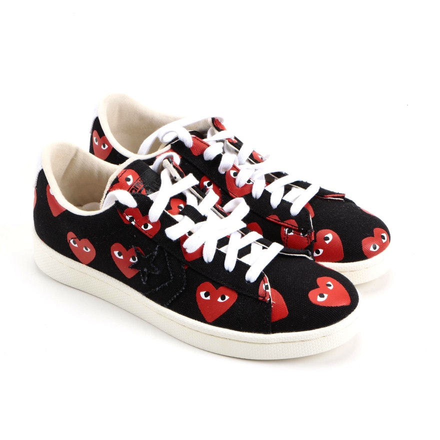 Comme des Garçons Play x Converse Pro Leather Low Unisex Trainers