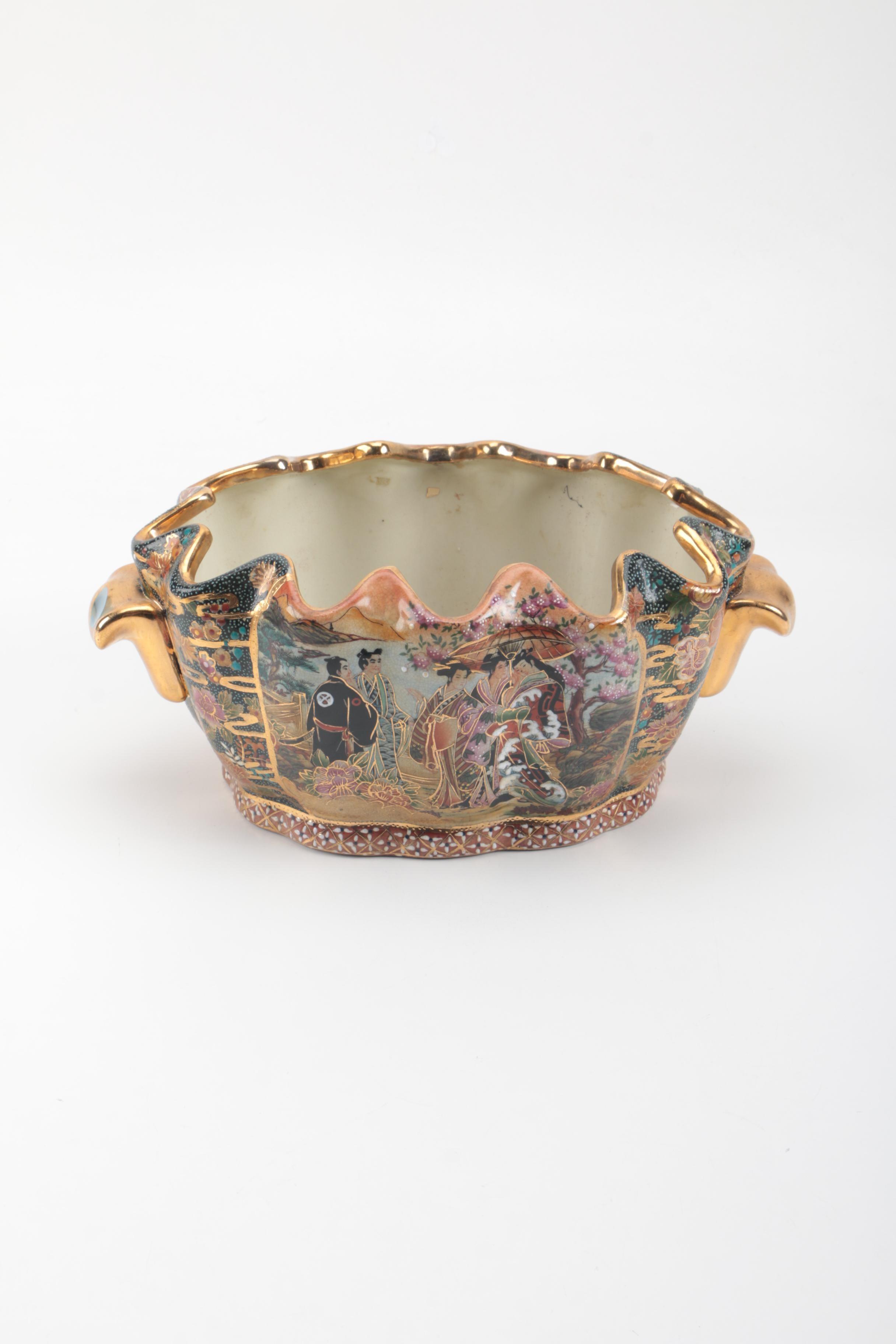 Satsuma Style Porcelain Jardiniere
