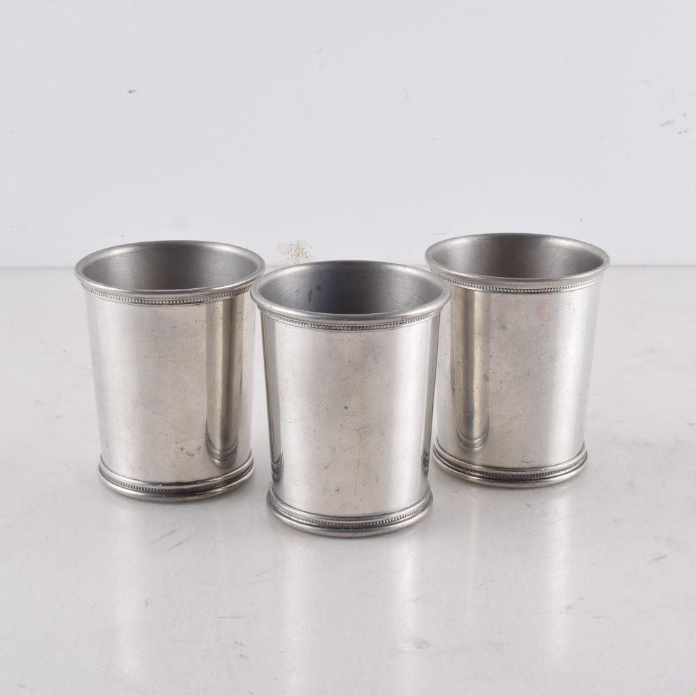 Three Pewter Julep Cups