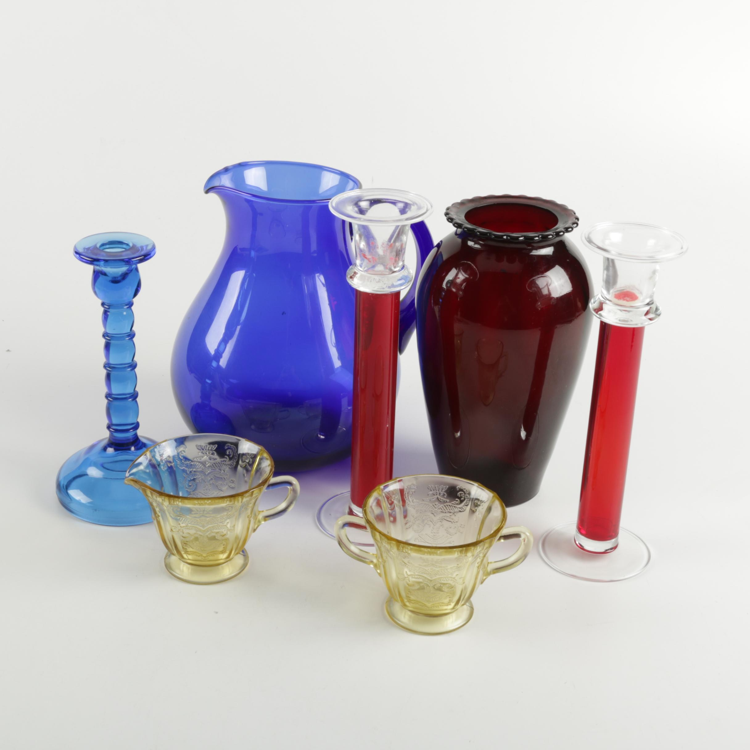 Collection of Colorful Glass Decor
