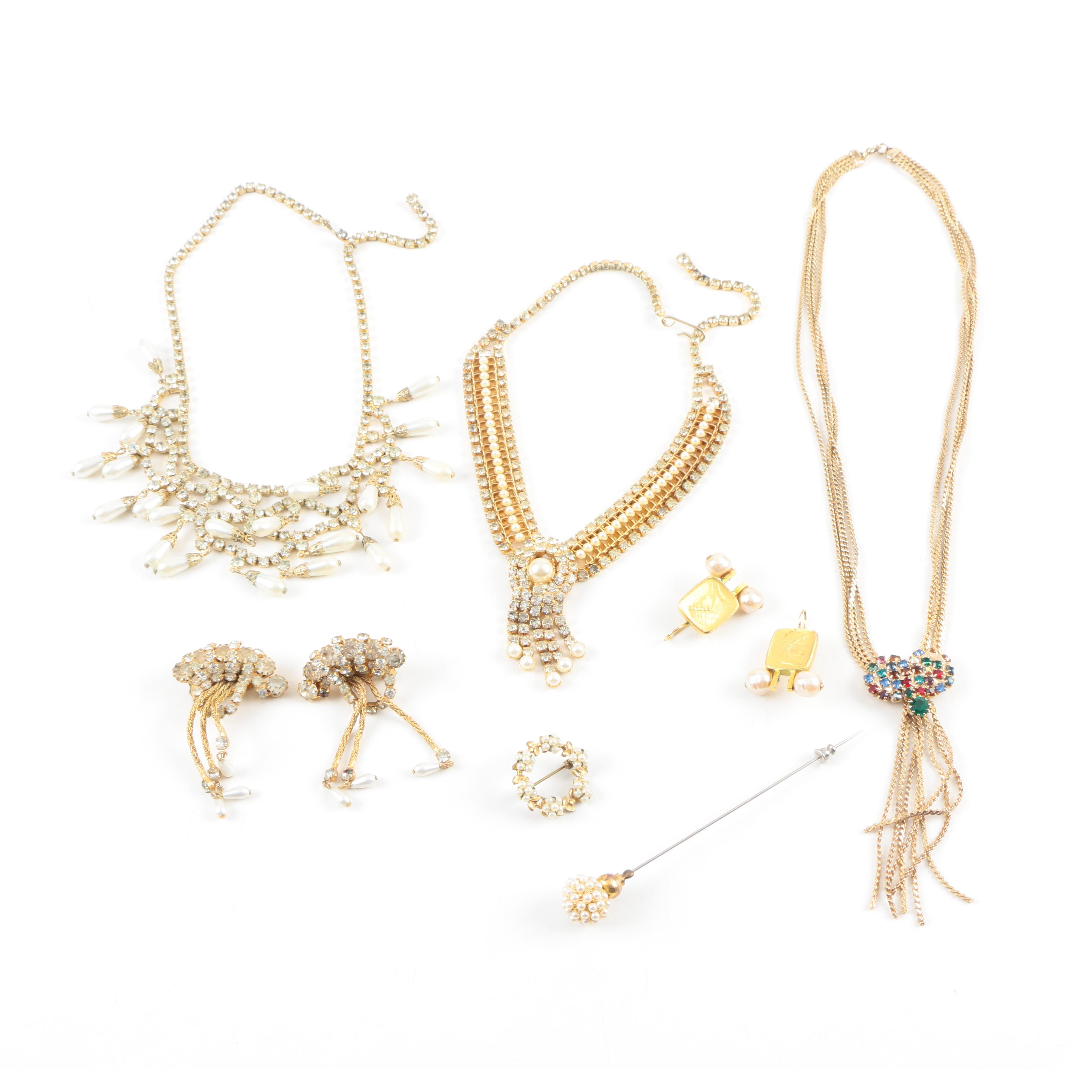 Assorted Gold Tone Jewelry Including Linda Levinson
