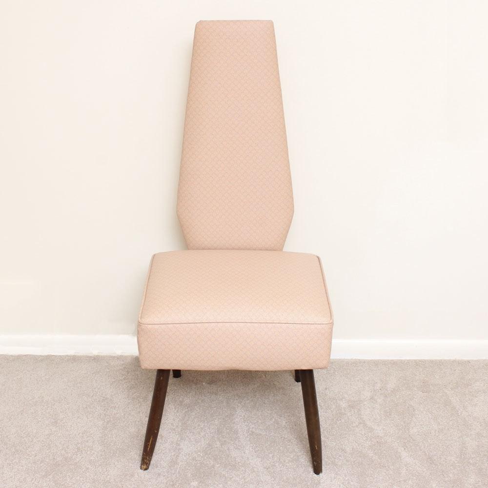 Mid Century Modern High Back Side Chair