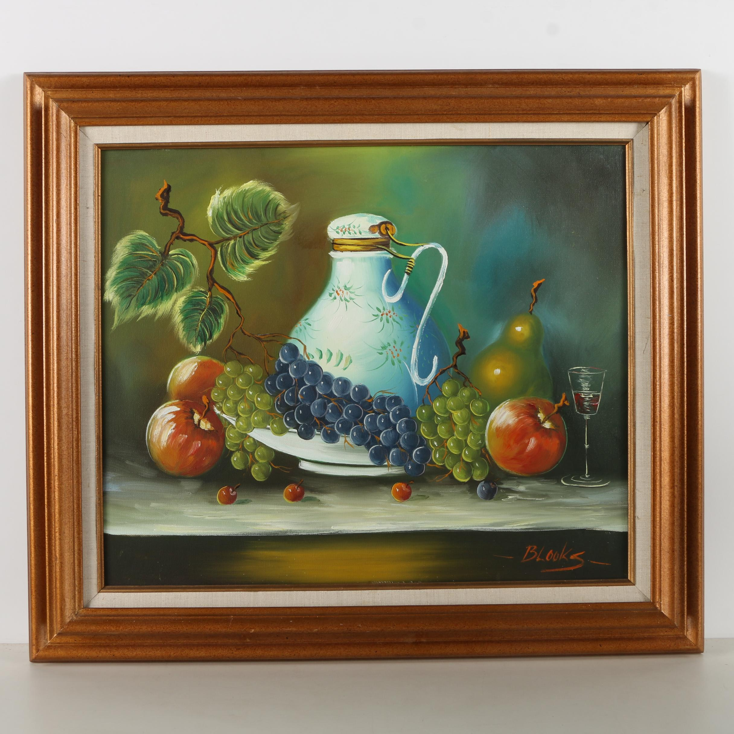 Blooks Oil Painting on Canvas of a Still Life