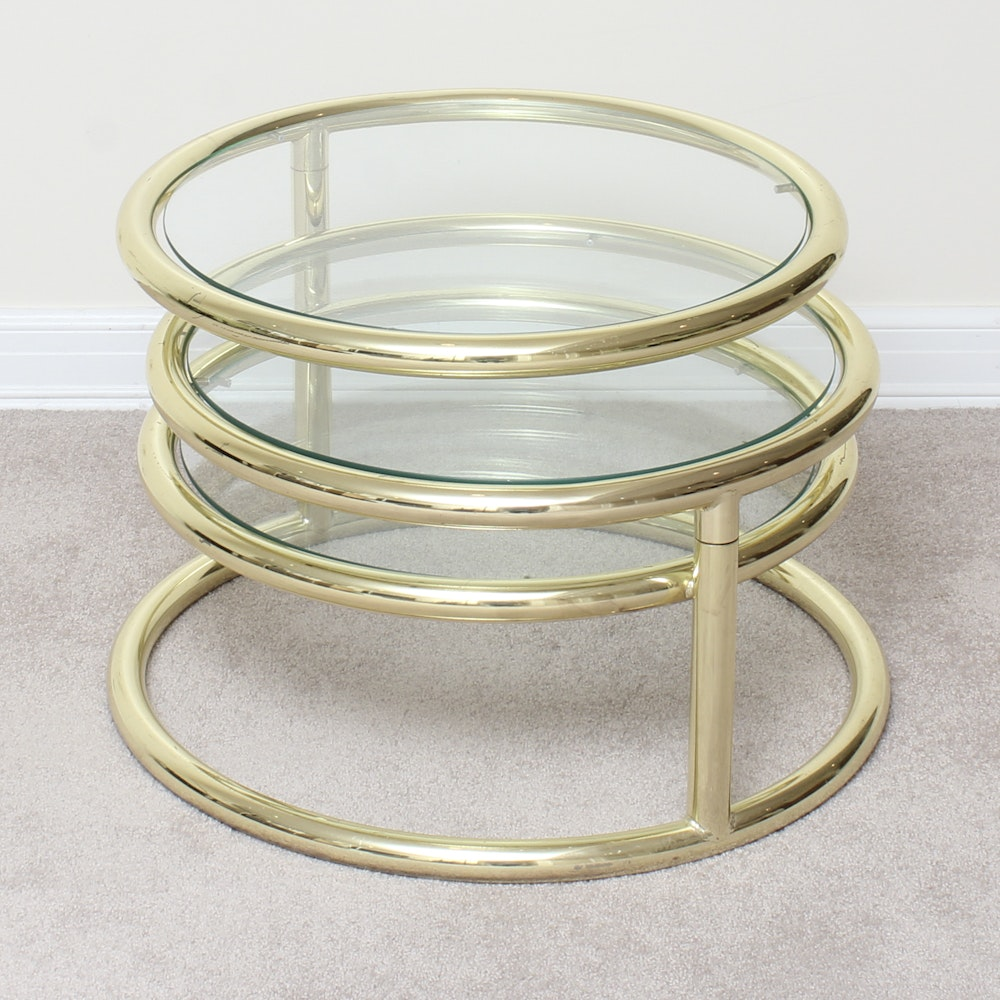 Contemporary Adjustable Round Side Table