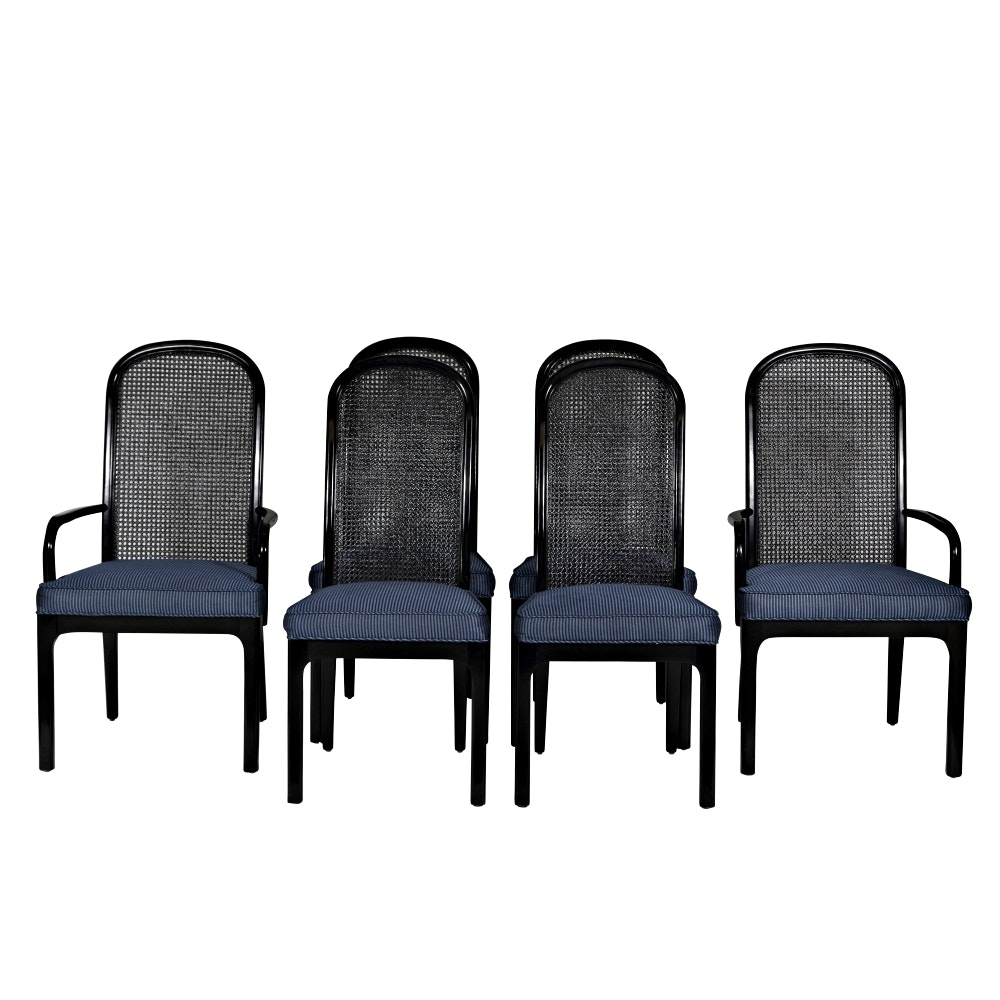 Black Cane Back Dining Chairs