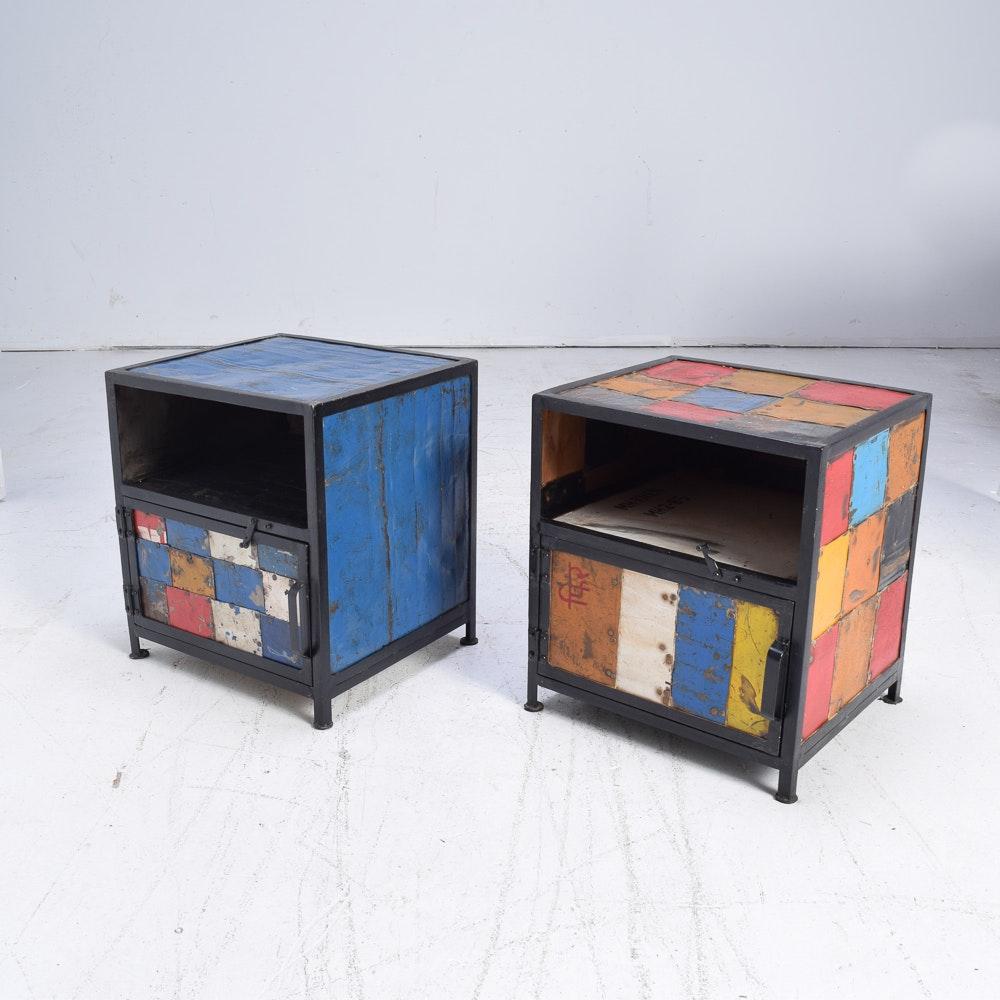 Pair of Metal Side Tables