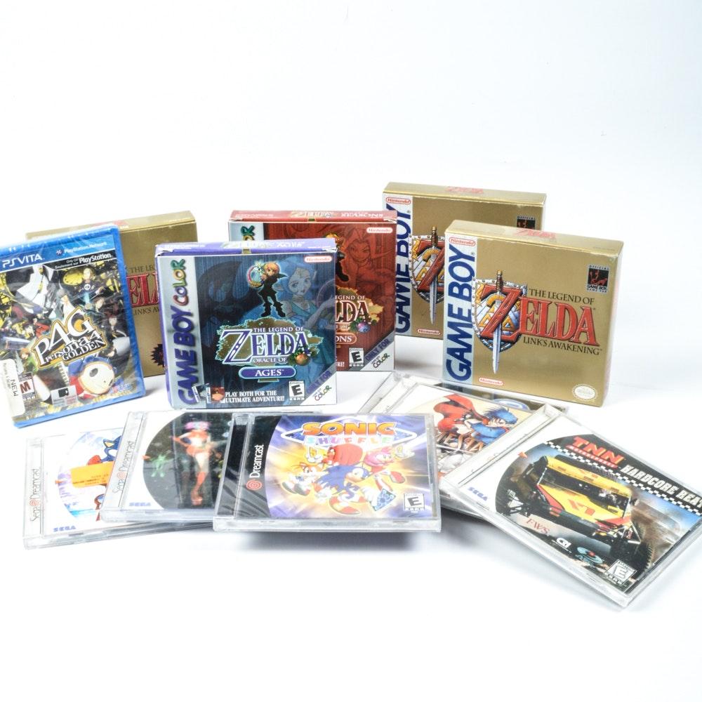 Game Boy, Dreamcast, PS Vita Games