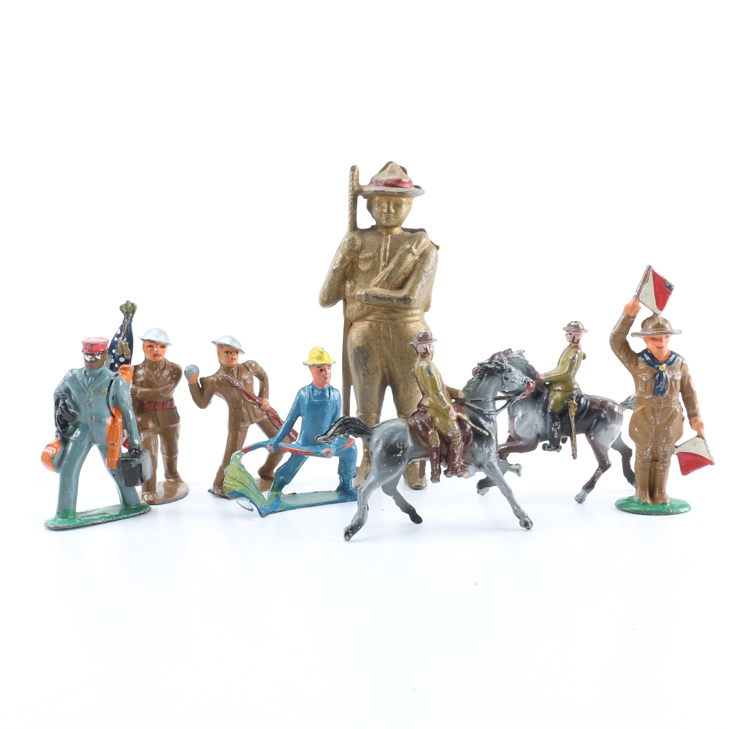 Assortment of Metal Toy Figurines