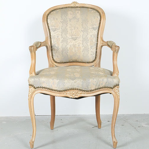 Provincial Louis XV Style Fauteuil