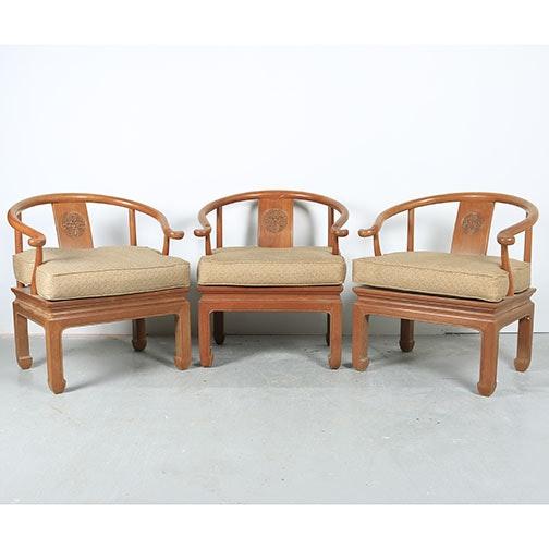 Chinese Roundback Armchairs