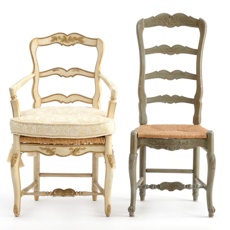french provincial style ladder back chairs ebth