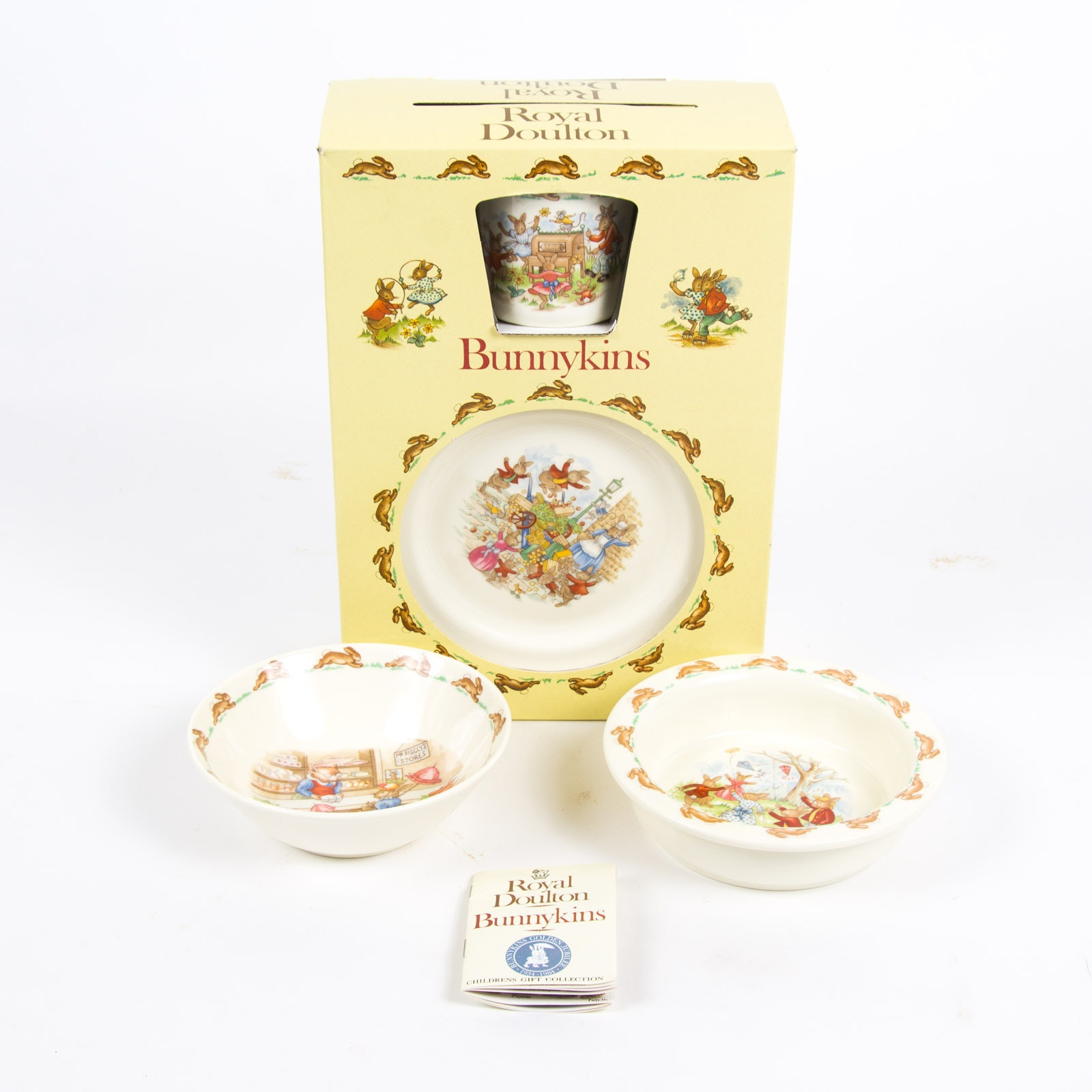 """Bunnykins"" Children's Dinnerware Collection By Royal Doulton"