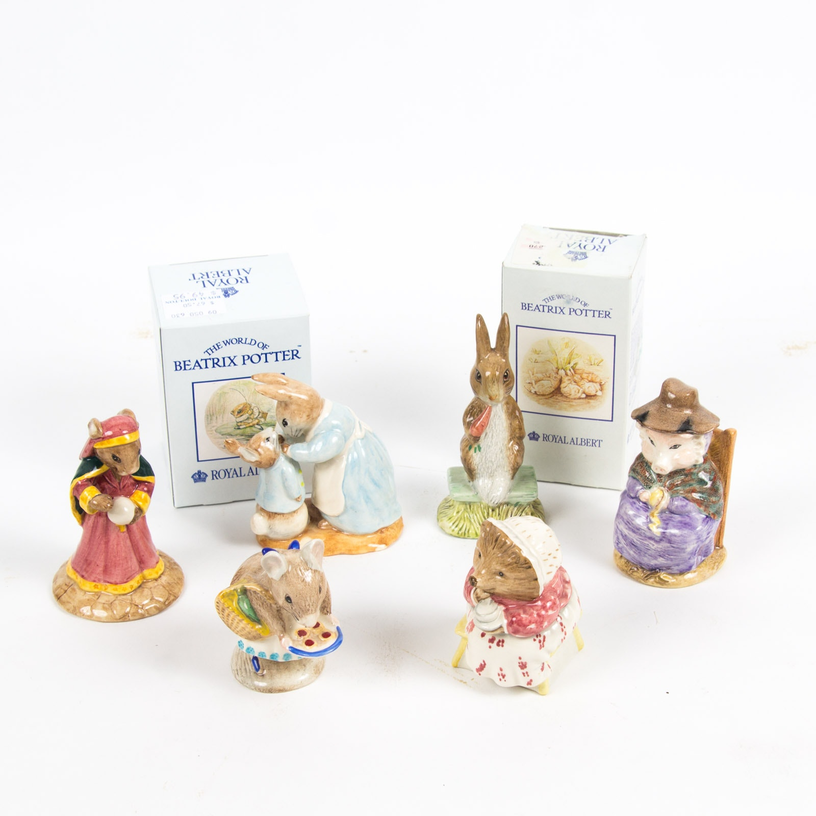 "Royal Albert ""The World of Beatrix Potter"" Collection of Porcelain Figurines"