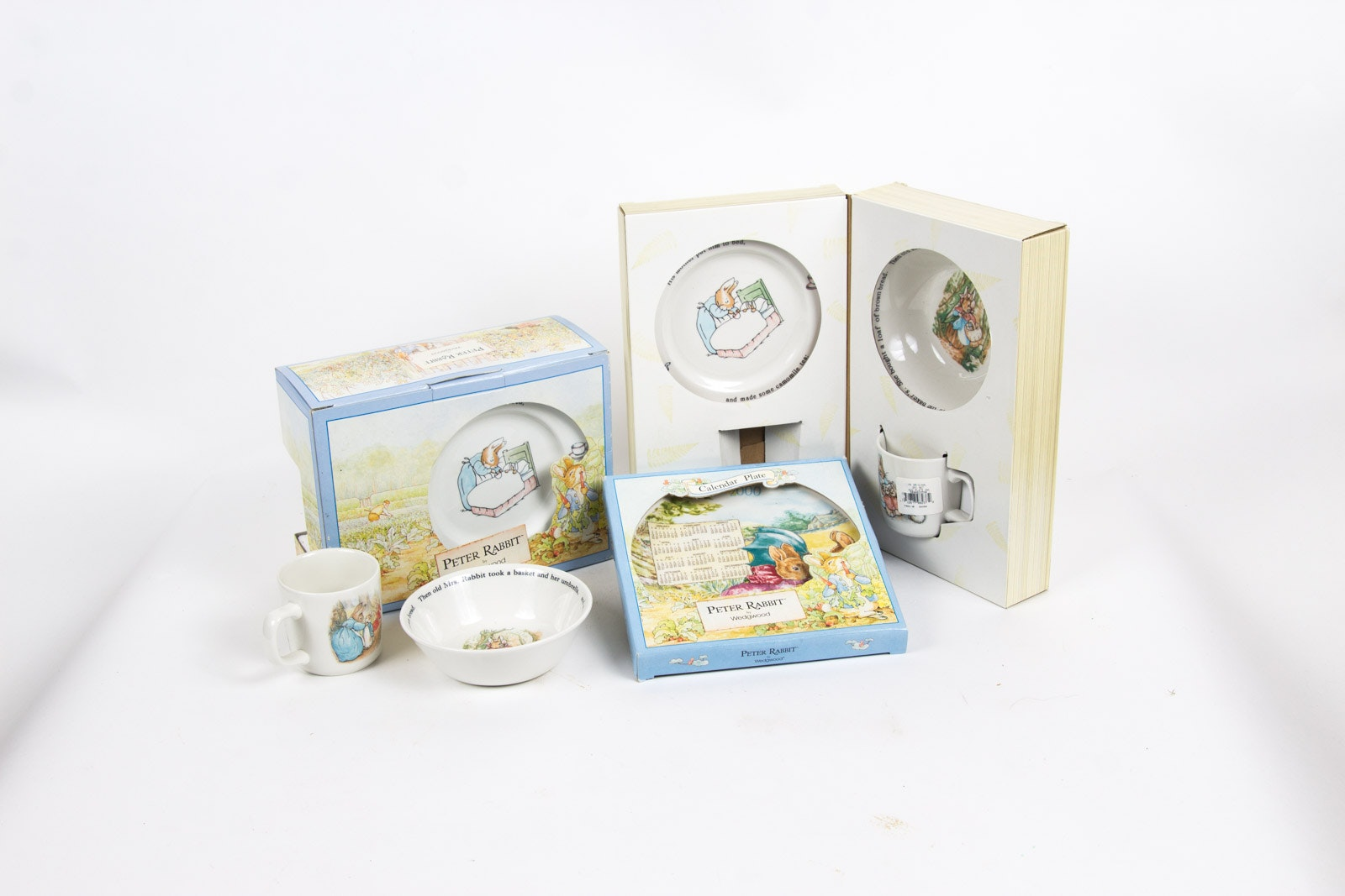 """""""Peter Rabbit"""" Porcelain Tableware and Decorative Plate By Wedgwood"""