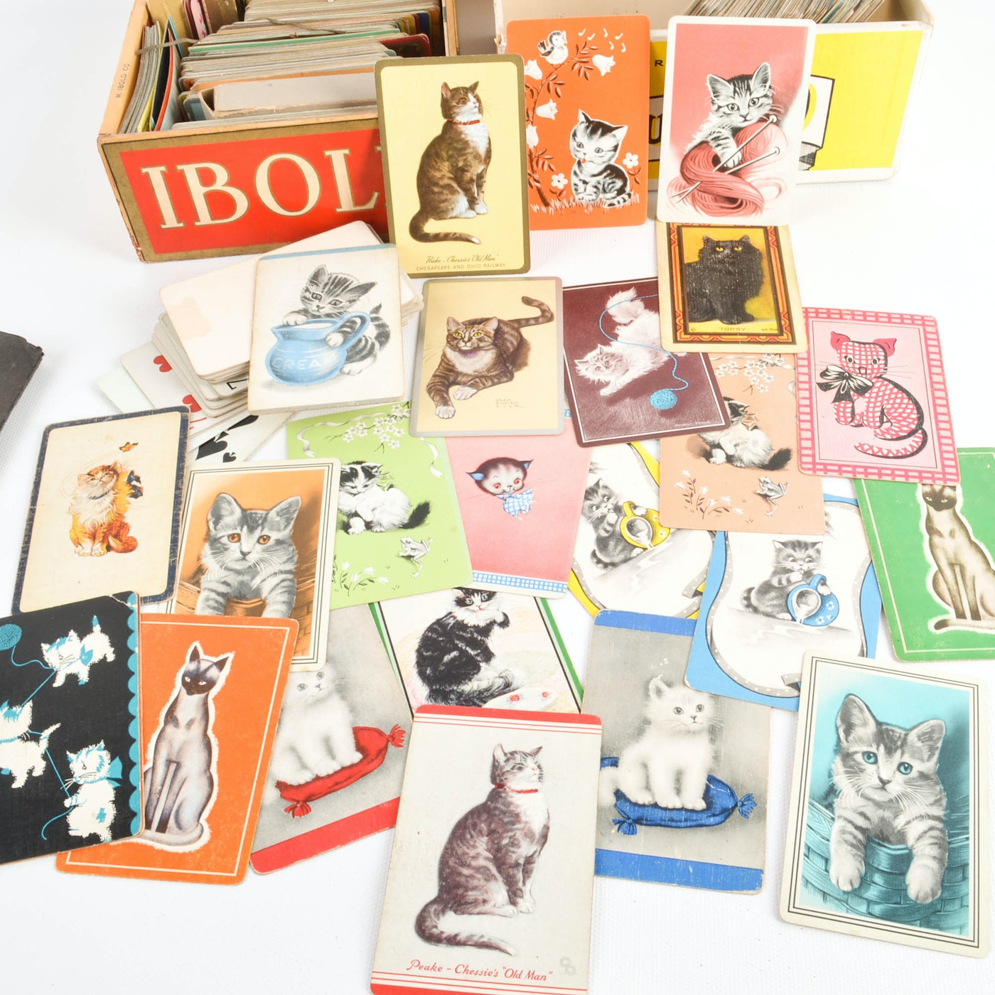 us playing card samples with assorted print and blank
