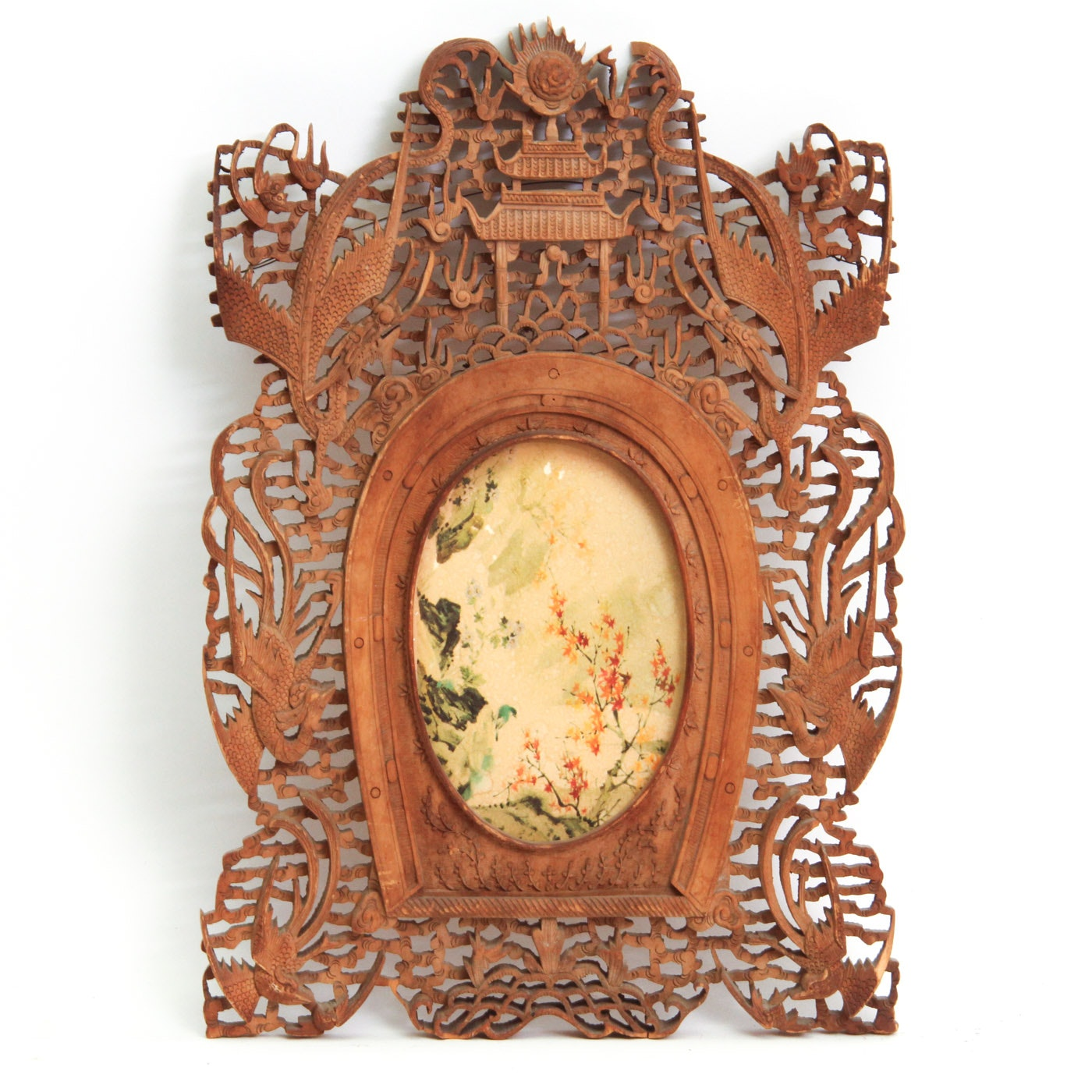Decorative Carved Chinese Wood Frame