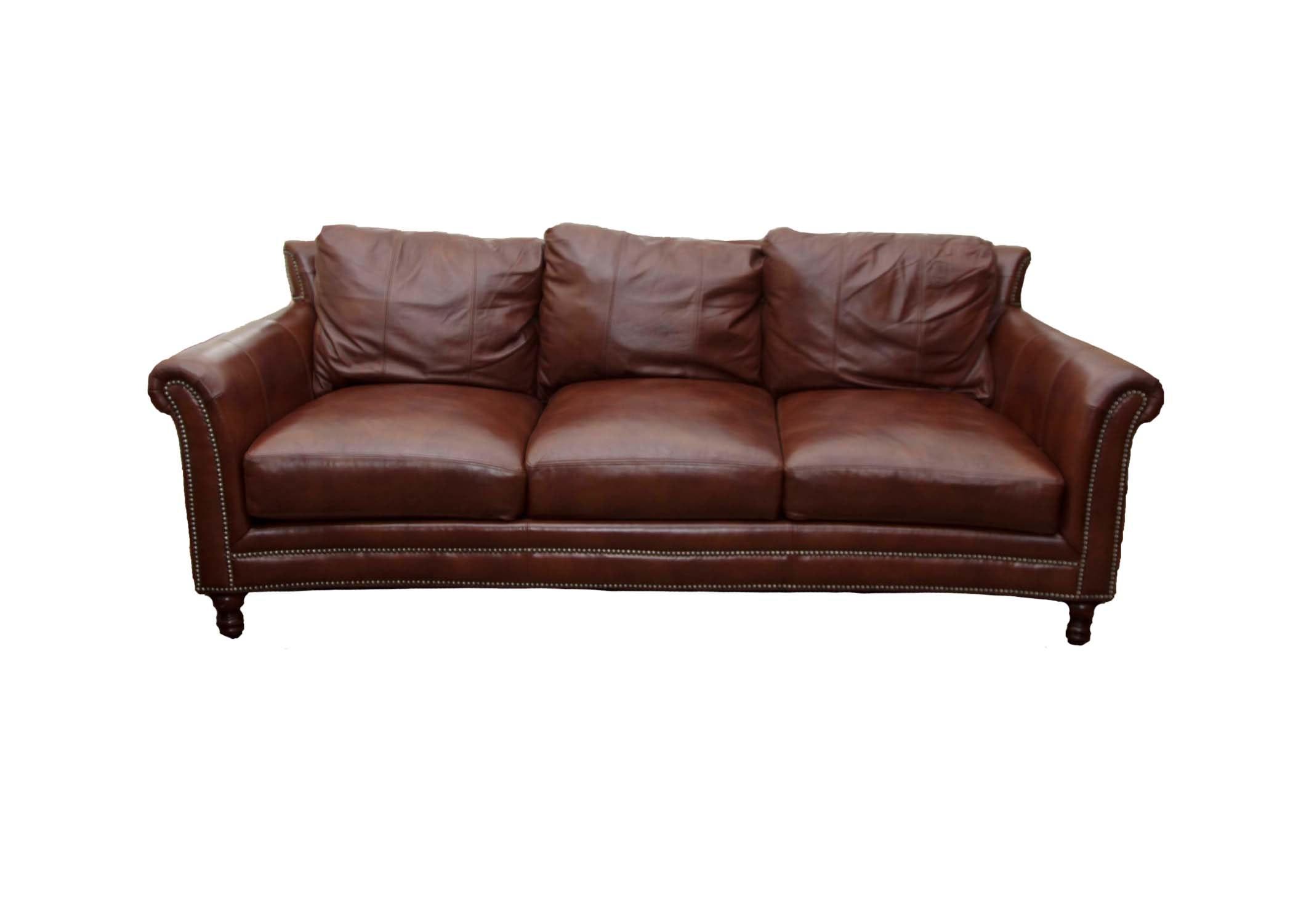Bradington Young Brown Leather Sofa