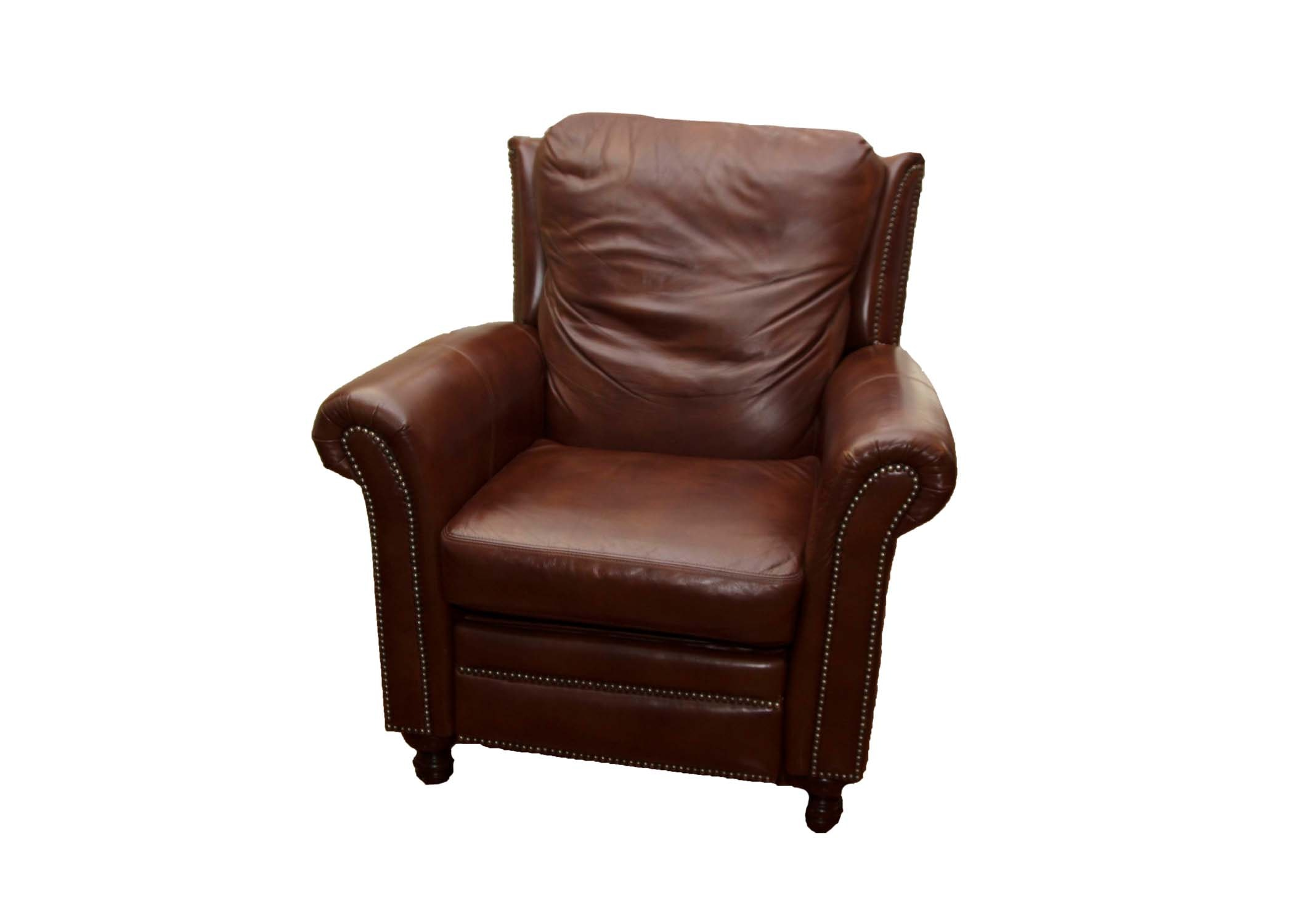 Bradington Young Brown Leather Recliner Chair