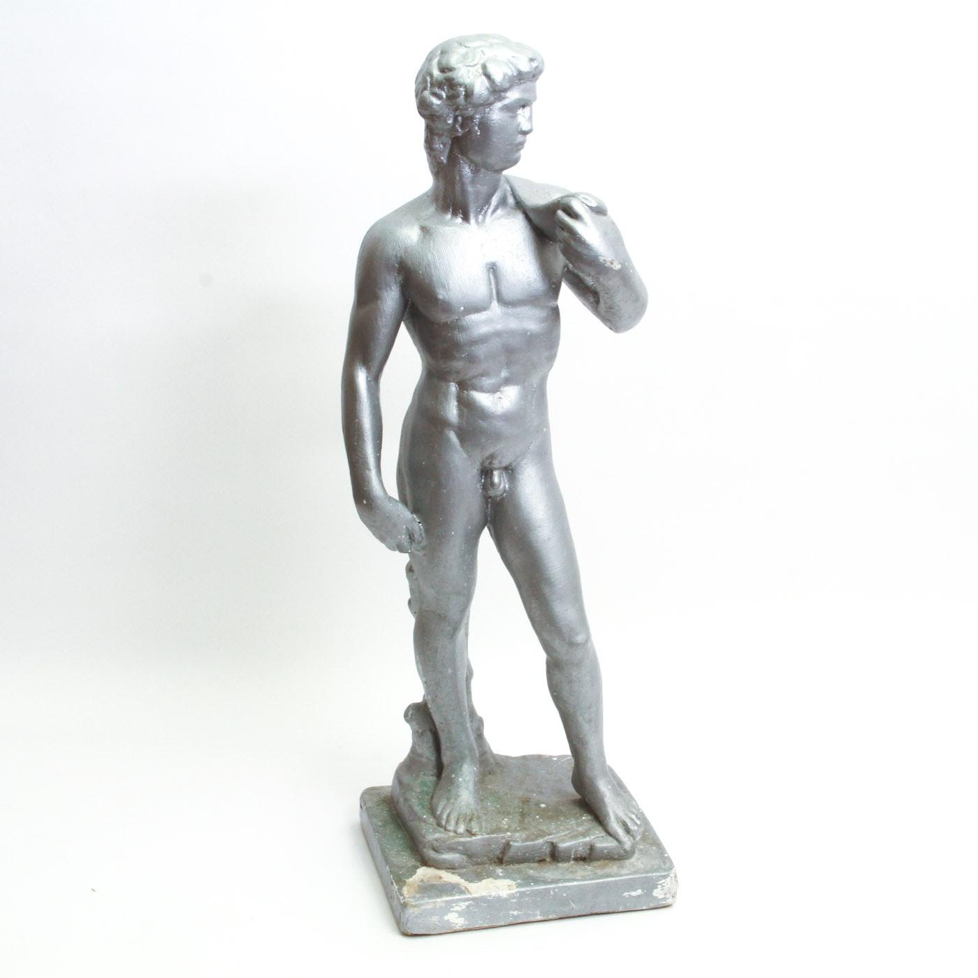 "Plaster Reproduction of Michelangelo's ""David"""