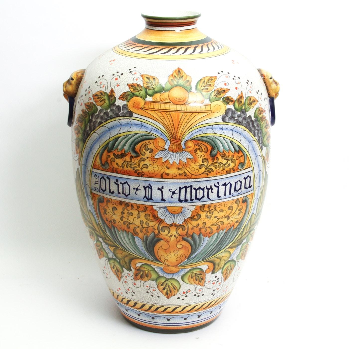 Vintage Italian Ceramic Urn Vase