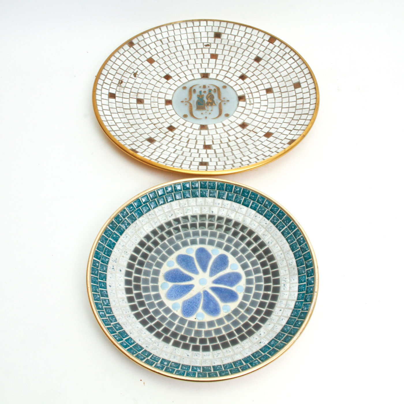 Collection of Tile Mosaic Dishes