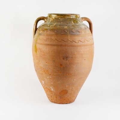 Large Hand Thrown Terracotta Confit Jar