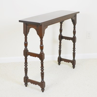 Jacobean Style Wood Console Table