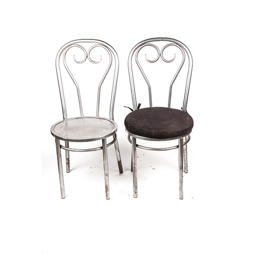 Pair of Metal Cafe Chairs
