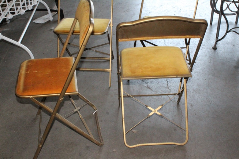 Set Of A Fritz Amp Co Folding Chairs Ebth