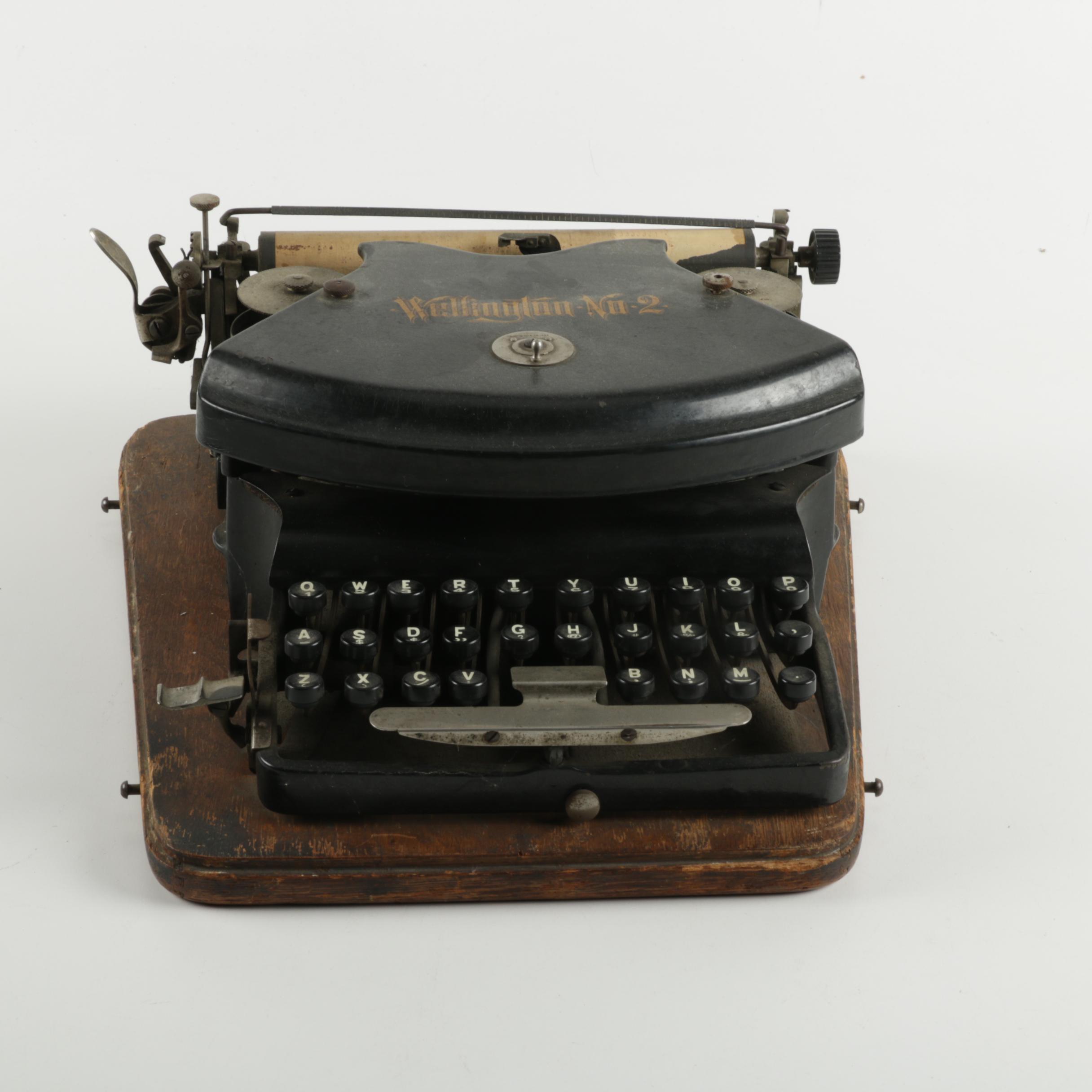 Wellington No. 2 Typewriter with Case