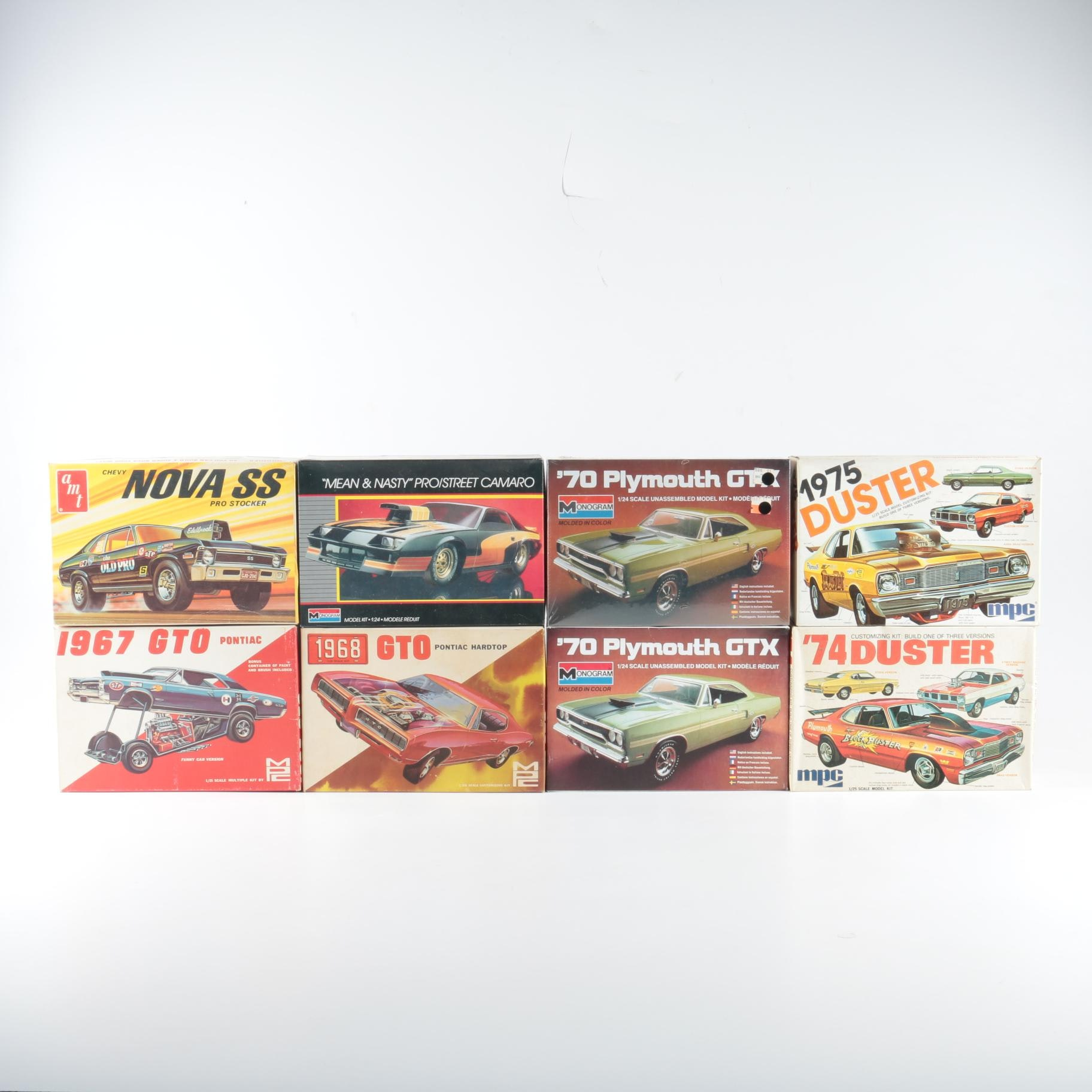 Collection of Muscle Car Model Kits