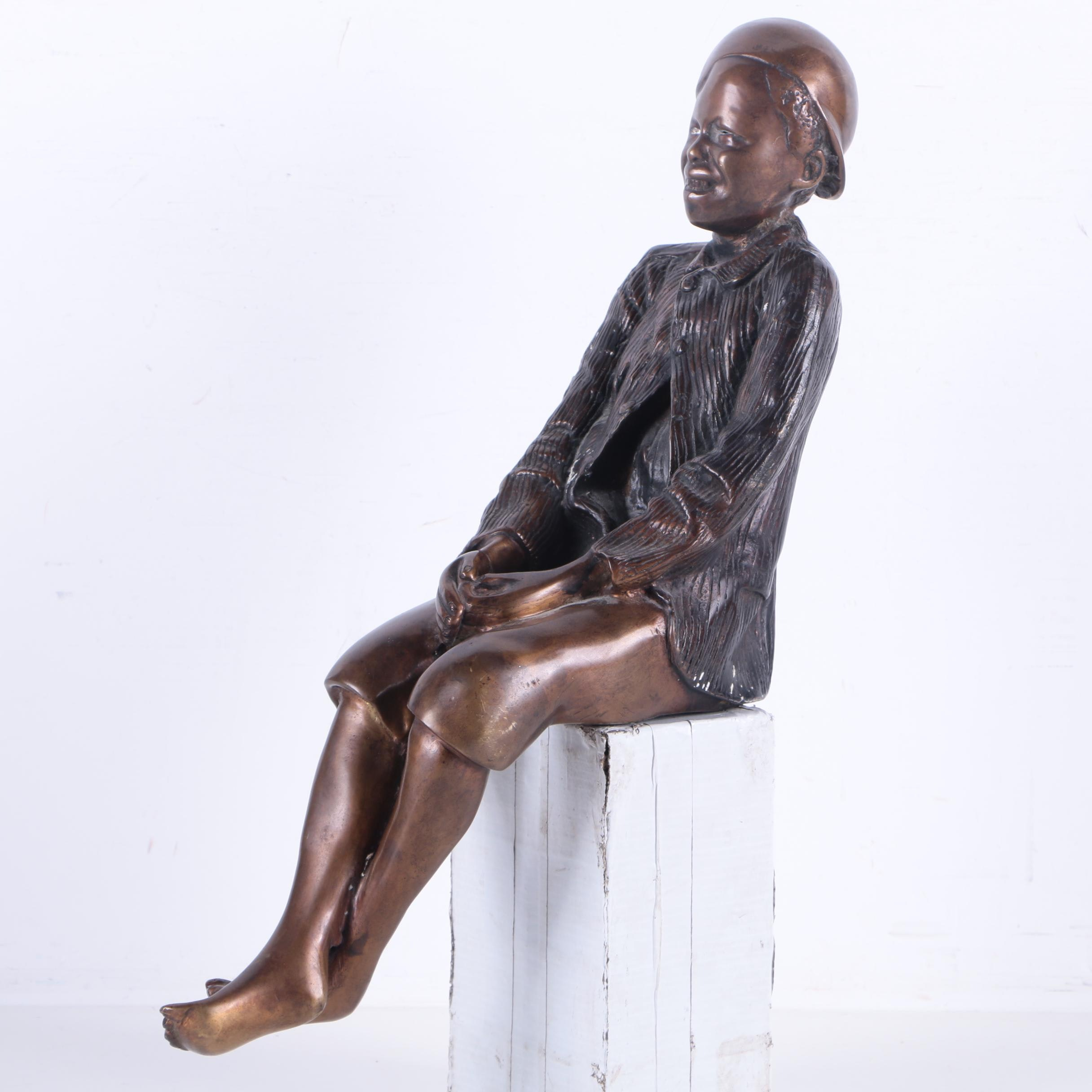 Copper Alloy Sculpture of Boy