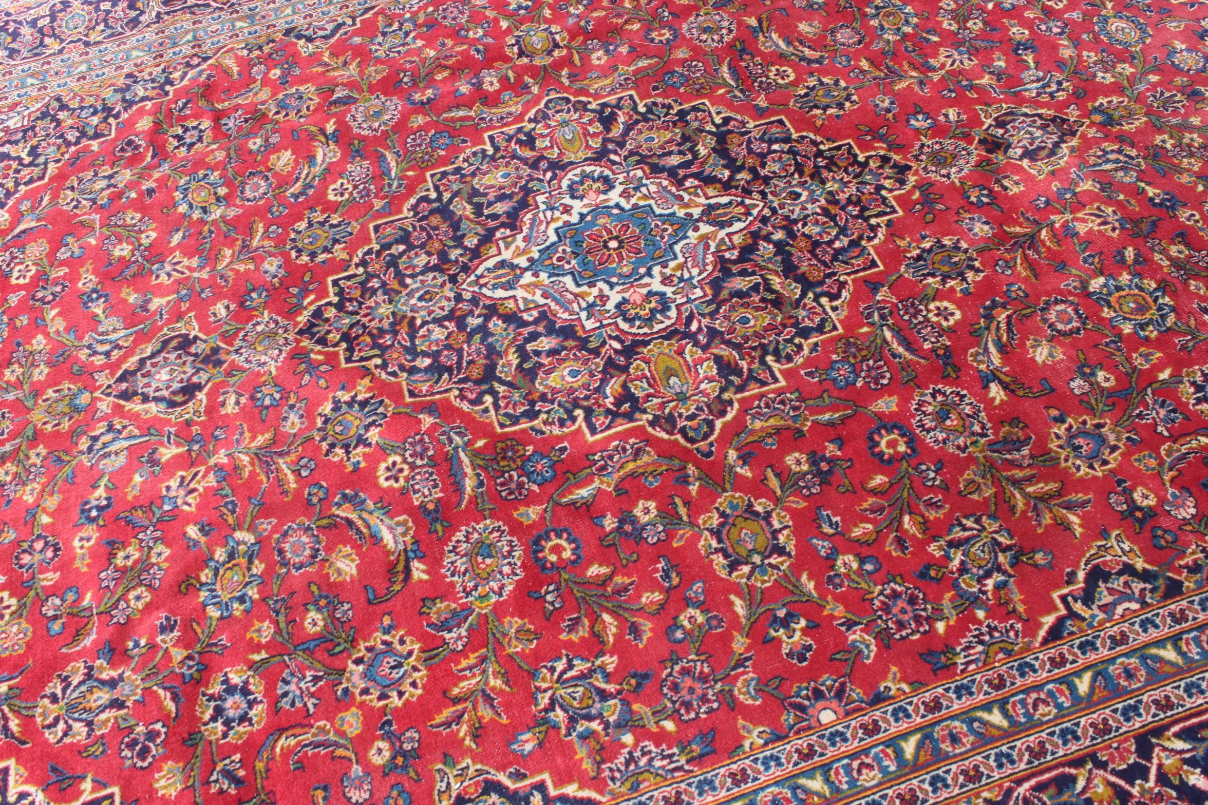 Hand Knotted Persian Lilihan Sarouk Vintage Area Rug Ebth