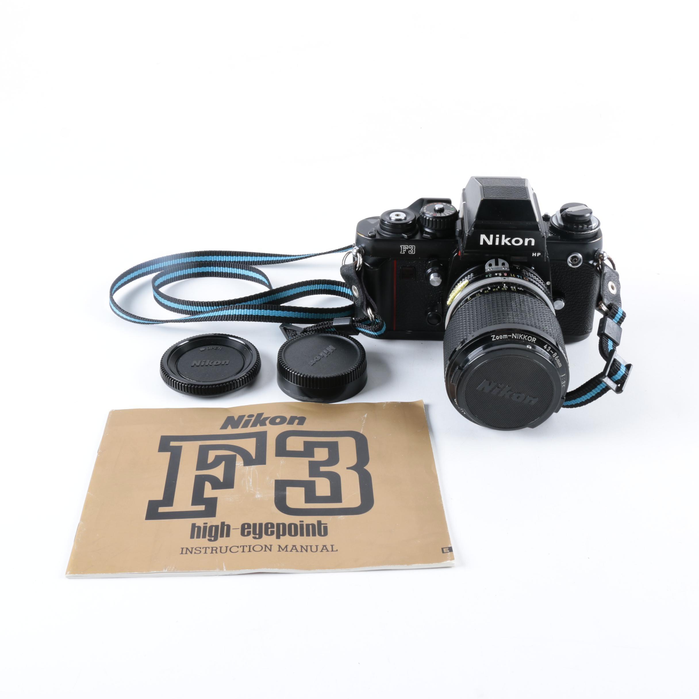 nikon f3 slr camera with lens ebth rh ebth com Nikon F3 Viewfinder Nikon F3 Viewfinder
