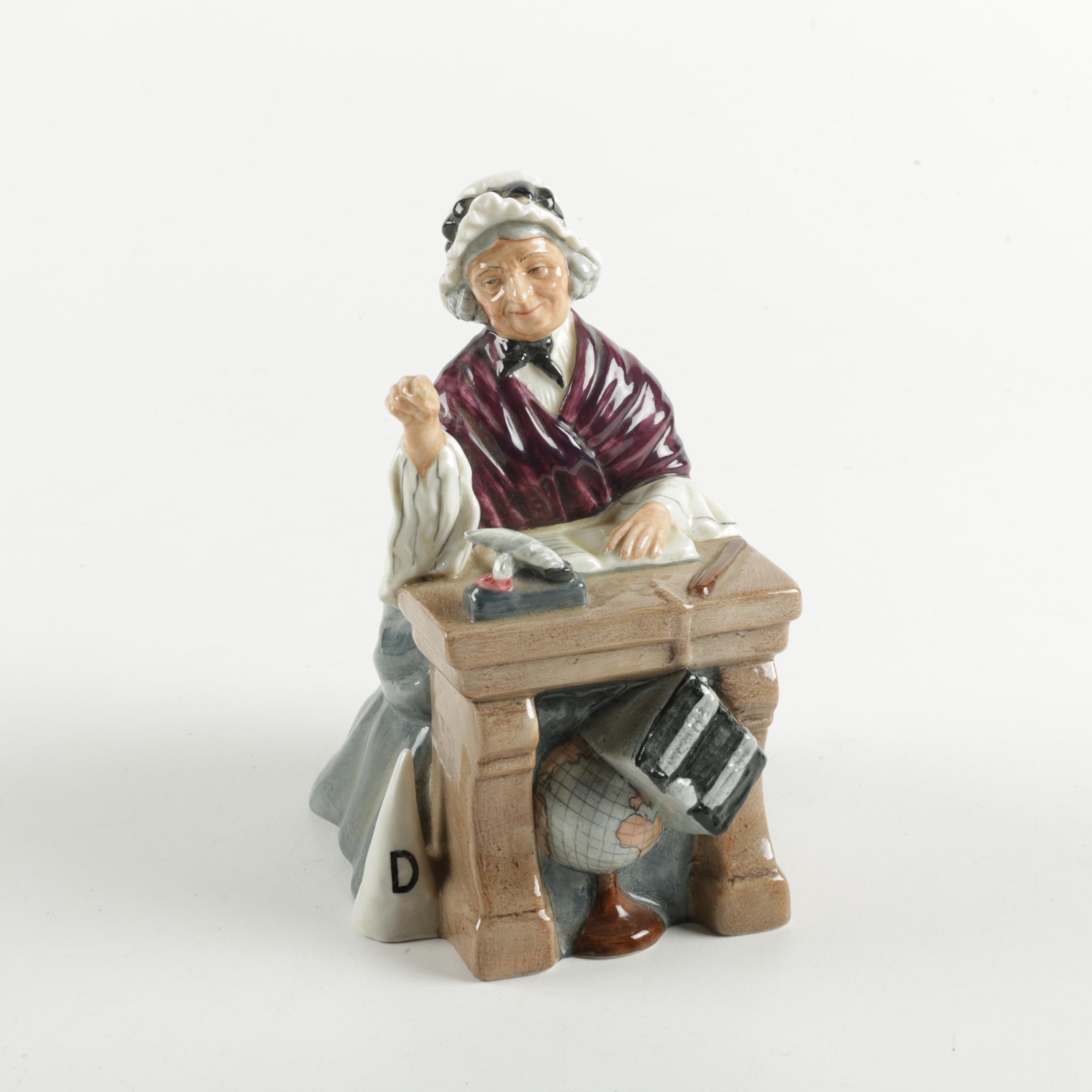 """Royal Doulton Porcelain Figurine """"Schoolmarm"""""""