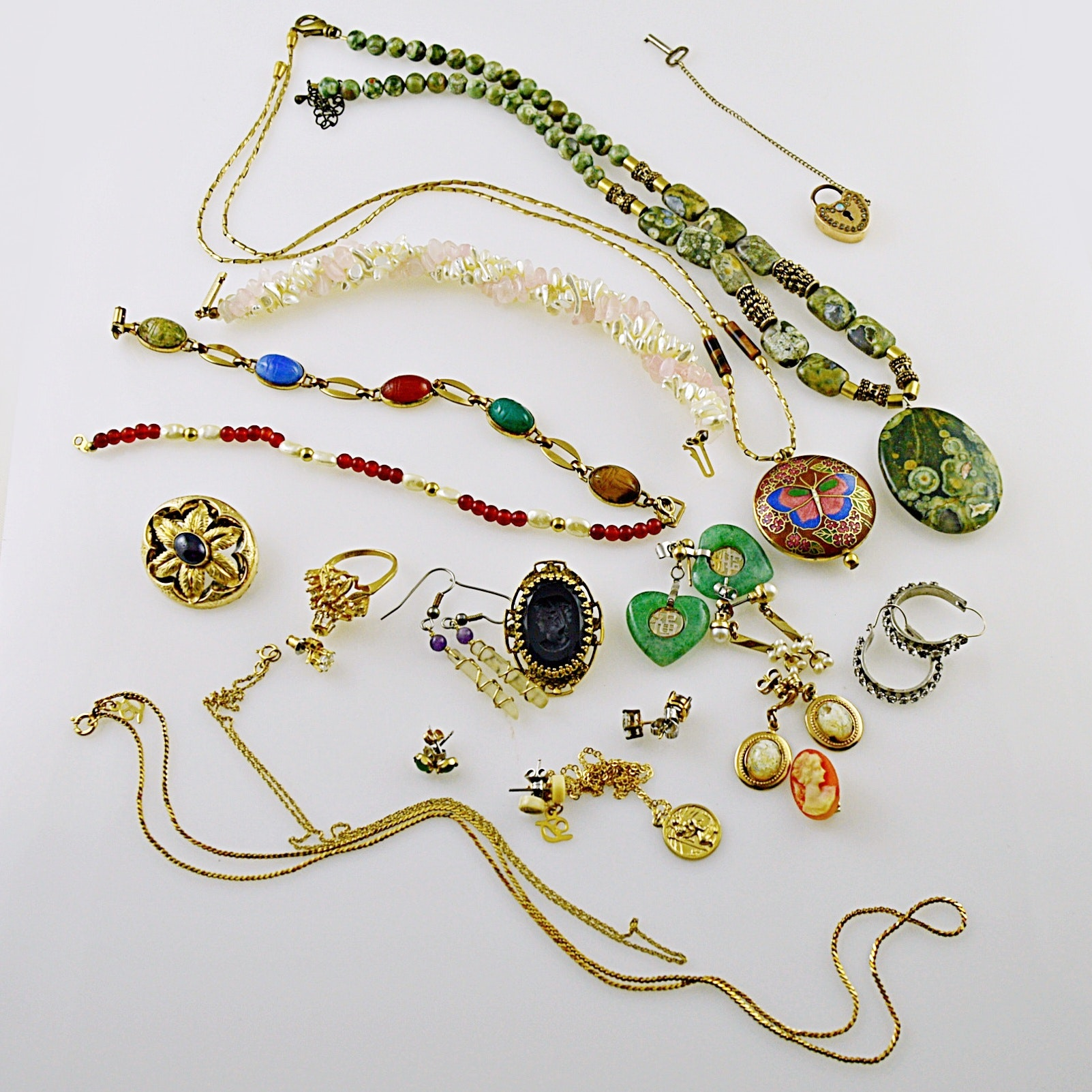 Vintage and Modern Jewelry with Stones