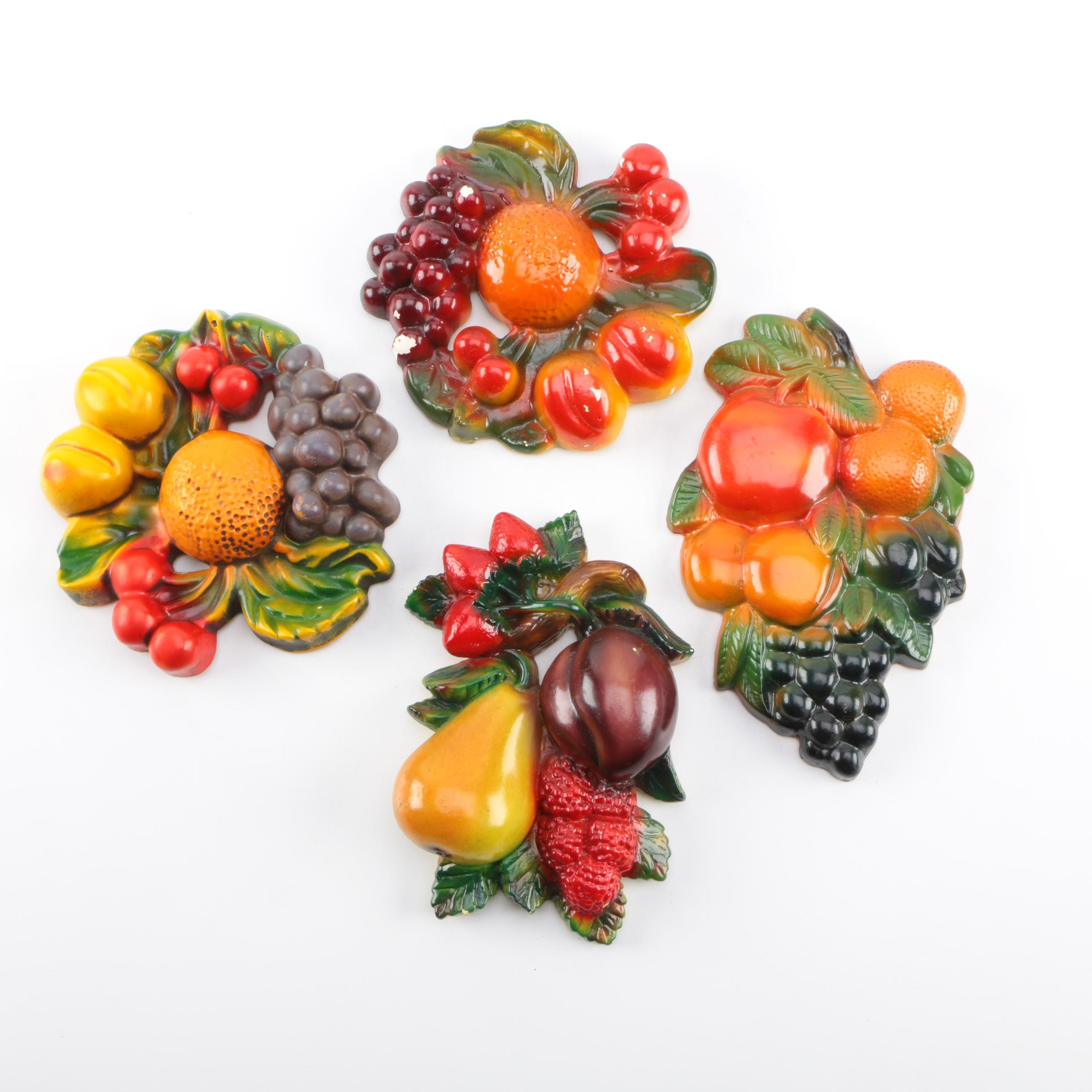 Ceramic Fruit Relief Wall Decor