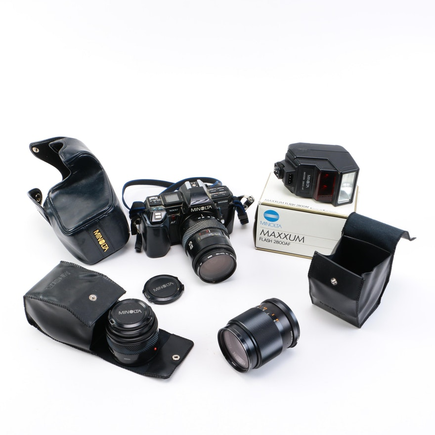 Minolta Maxxum 7000 Camera And Accessories