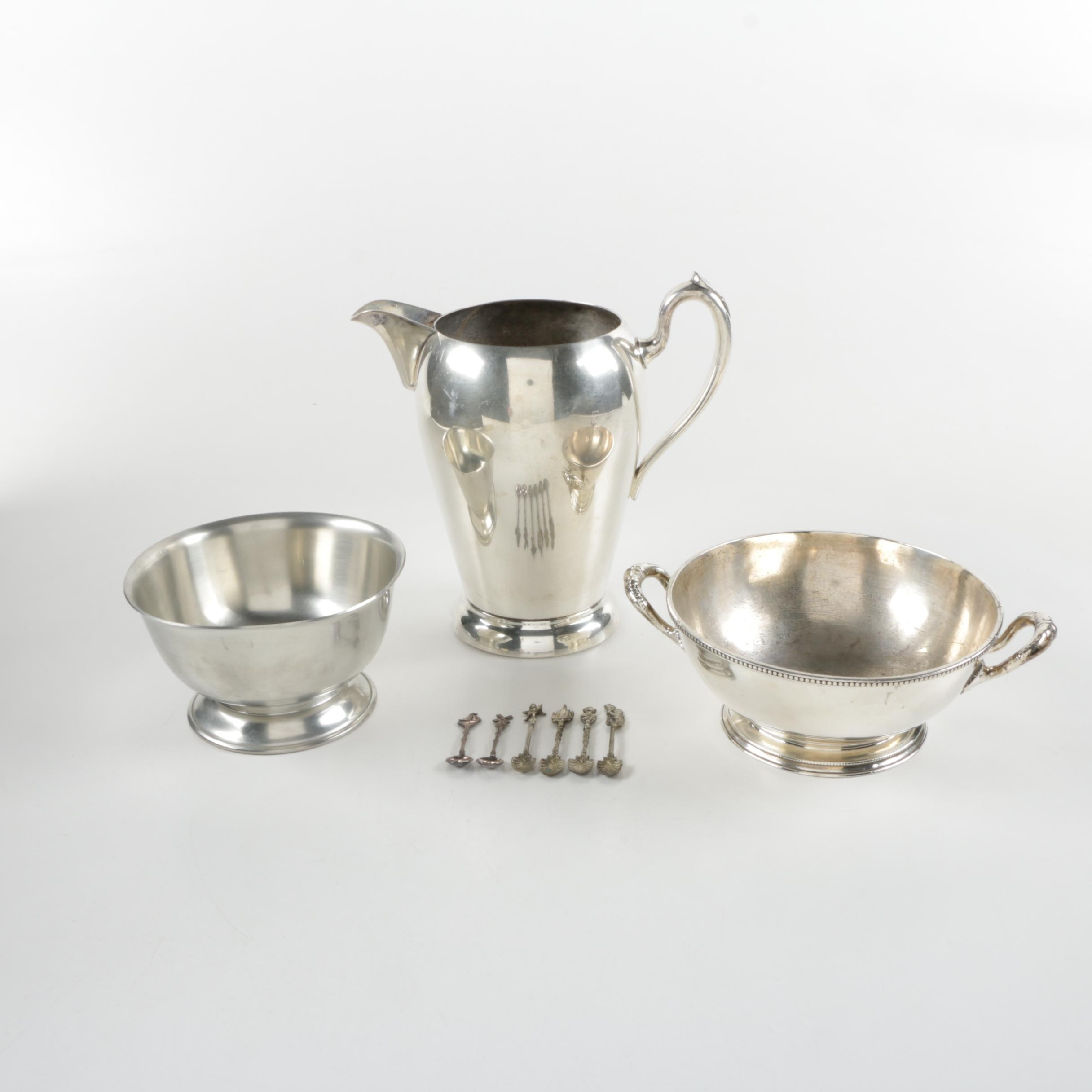 Silver Plate Tableware Featuring Reed & Barton